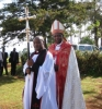 Archbishop Stanley Ntagali in porcession
